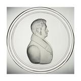 Glass Medallion with Portrait