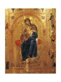 Virgin with Child  Plate from a Byzantine Manuscript