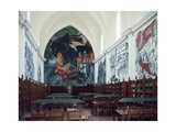 Gabino Ortiz Library Room with Frescoes by Clemente Orozco  1940
