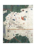 Islands of Central America  Nautical Chart  16th Century