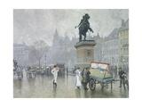 Denmark  Hojbro Square in Copenaghen  1917