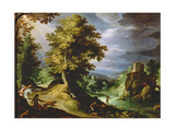 Landscape with a Deer Hunt  1591