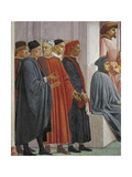 Men in Medieval Dress  Detail from the Raising of the Son of Theophilus