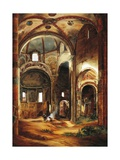Interior View of St Peter's Basilica in Ciel D'Oro  Pavia  1854