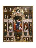 Panel with Portraits of the Bavarian Kings of the Wittelsbach Family  1880
