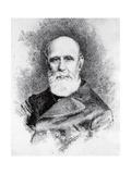 Portrait of Italian Patriot and Writer  Giovanni Ruffini