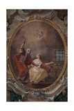 Visit of St Peter to St Agatha in Prison  1761 - 1768
