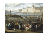 The Louvre Seen from the Pont-Neuf  1666  Detail