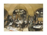 Griensteidl Cafe' in Vienna  1896