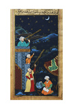 Astronomers While Studying the Moon and the Stars  Ottoman Miniature