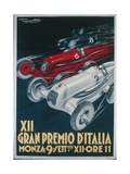 Twelfth Italian Grand Prix at Monza  September 9  1934 by Plinio Codognato  Poster
