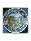 Plate with Depiction of David and Goliath  Ceramic