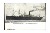 Hapag  Dampfschiff PD President Lincoln