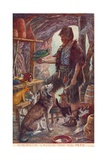 Robinson Crusoe and His Pets  from Adventures of Robinson Crusoe  Published 1908