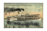White Star Line  Steamer Tashmoo  Detroit  Port Huron