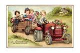 Geburtstag Glückwunsch  Trtor  Blumen  Kinder