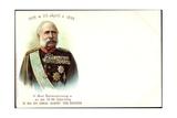 Litho König Albert Von Sachsen  Wettiner  70 Geburtstag