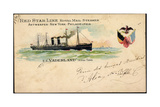 Litho S SVaderland  Red Star Line  Royal Mail Steamer