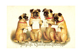 Glückwunsch Geburtstag  Vier Singende Hunde