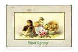 Präge Glückwunsch Ostern  Küken Beim Schlüpfen