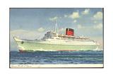Cunard Line  RMS Caronia  Dampfschiff in Fahrt