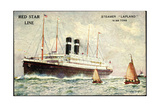Künstler Red Star Line  Steamer Lapland  Dampfer