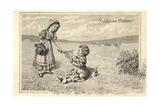 Künstler Glückwunsch Ostern  Kinder  Osterhase  Ort