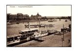 Dresden  Dampfschifflandeplatz Dampfer Karlsbad Elbe