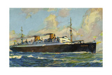 Künstler Norddeutscher Lloyd Bremen Dampfer Columbus