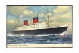 Cunard Line  RMS Queen Elizabeth  Dampfschiff
