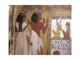 Egypt  Ancient Thebes  Dayr Al-Madinah  Mural Painting of Afterlife at Tomb of Sennedjem