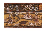 Embroidered Tapestry of Hem with Hunting Scene
