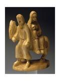 Flight into Egypt  Nativity Scene with Carved Olive Wood Figurines  Palestine