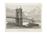 Usa  Cincinnati  Bridge over Ohio River from Nouvelle Geographie Universelle by Elisee Reclus
