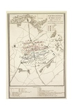 Map of the Battle of Waterloo  18 June 1815