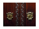 Escutcheon on Doors of Walnut Wardrobe with Farnese Family Coat of Arms  Italy