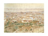 Panoramic View of Vienna  1935  Austria 20th Century Watercolour