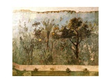 Fresco Depicting Garden  from Villa Di Livia Primaporta  Rome