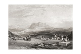 Athens  Greece  from a 19th Century Engraving from the Imperial Bible Dictionary  Published 1889