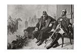 Napoleon III  Left  Having a Conversation with Otto Von Bismarck