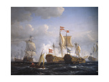 Battle of Koge Bay  July 1  1677  Denmark