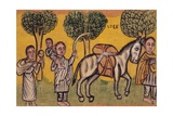 Flight into Egypt of Holy Family  Ethiopia