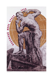 Soviet Poster with Nude Male  1968