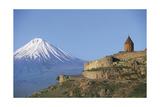 Armenia - Mount Ararat and Monastery at Khor Virap