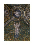 Clipeus with Mystic Lamb Supported by Four Angels and Nature Motifs  Mosaic