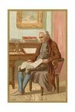 Trade Card Depicting a Portrait of James Watt