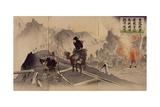 Railway in Manchuria Destroyed by Manchu Horsemen  1904  Russo-Japanese War  China