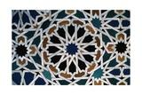Glazed Tile  Alhambra  Granada  Andalucia  Spain