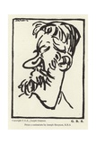 Caricature of George Bernard Shaw