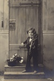 Young Boy Playing a Violin